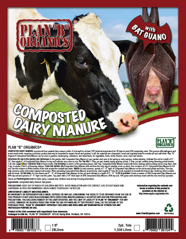 "Plan ""B"" Organics™ Composted Dairy Manure"