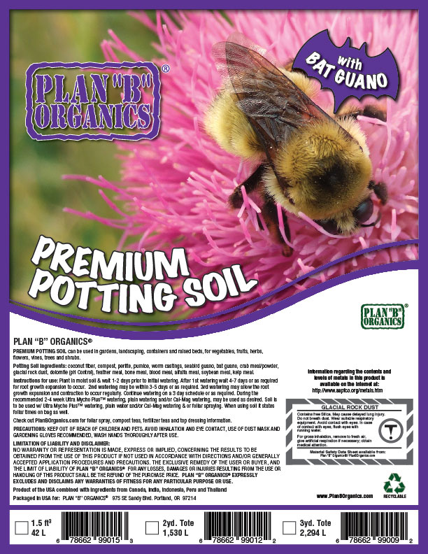 "Plan ""B"" Organics™ Premium Potting Soil"