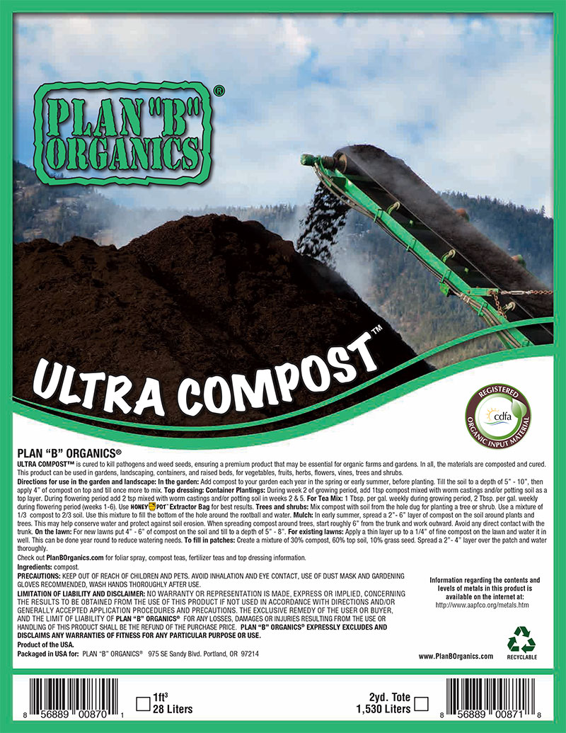 "Plan ""B"" Organics™ Ultra Compost"